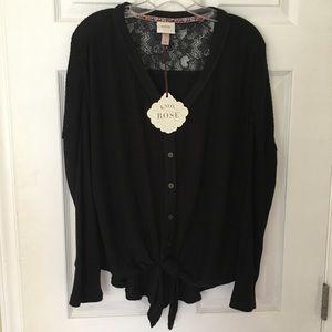 Knox Rose Black Sweater